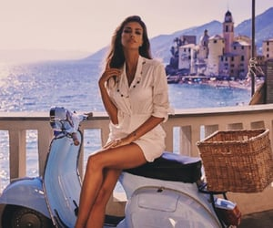 lifestyle, mediterranean, and moped image