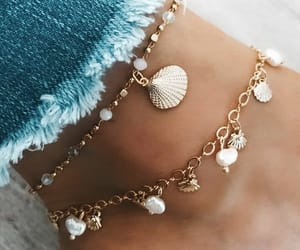 jeans, beach, and jewelry image