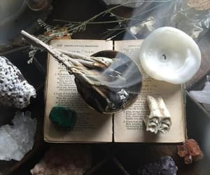 witch, book, and candle image