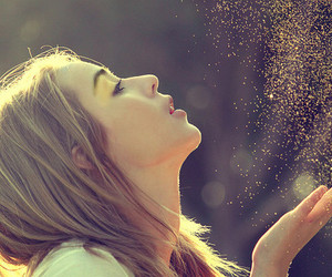 girl and glitter image