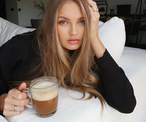 romee strijd, beauty, and coffee image