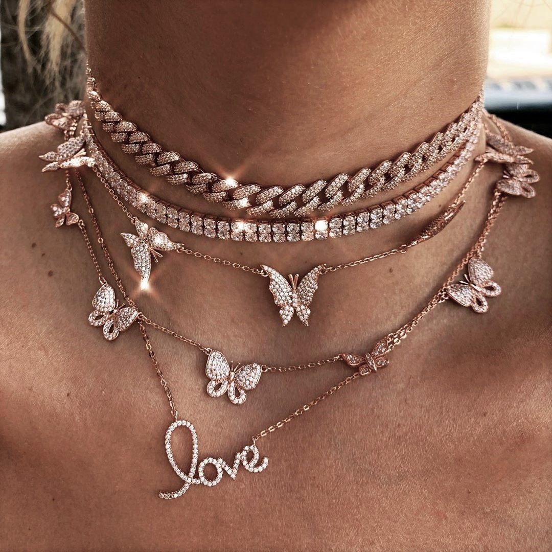 necklace, rose gold, and accessories image