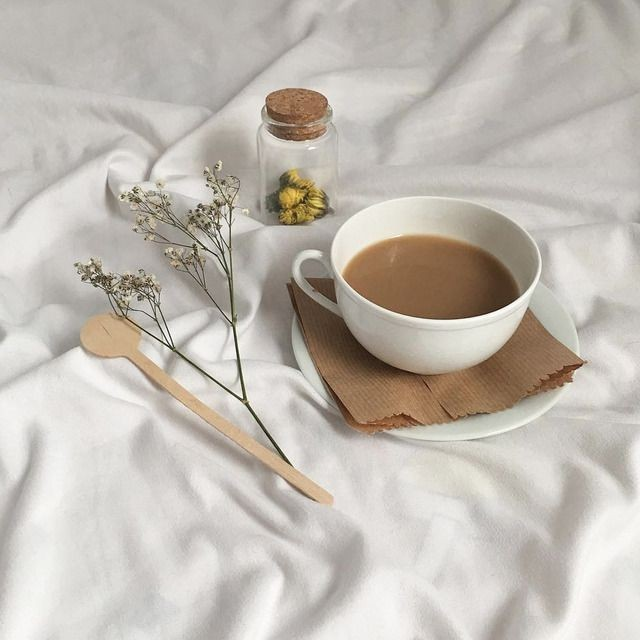 aesthetic, coffee, and flowers image
