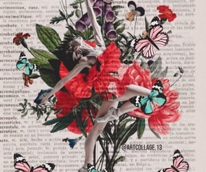 art collage, ballet, and dance image