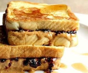 french toast, jelly, and peanut butter image