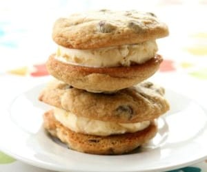 chocolate chip, sandwich, and cookie image
