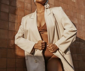 fashion, golden hour, and nude blazer image