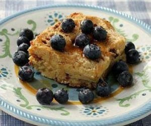 baked, french toast, and skillet image