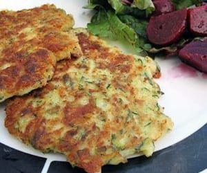 cakes, recipe, and fried zucchini image