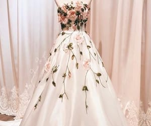 floral dress, prom dress, and long dress image