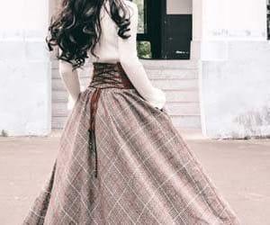 fashion, skirt, and long skirt image