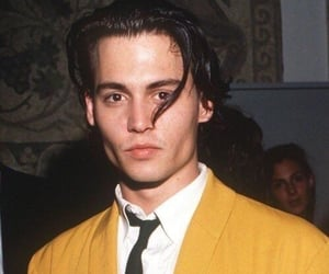johnny depp, boy, and yellow image