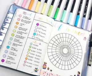 planner, tracker, and bullet journal image