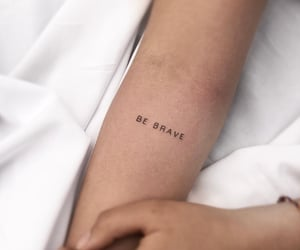 be brave, girl, and tattoo image