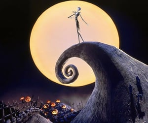 Halloween, the nightmare before christmas, and tim burton image