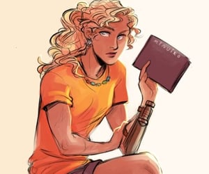 books, fan art, and percy jackson image