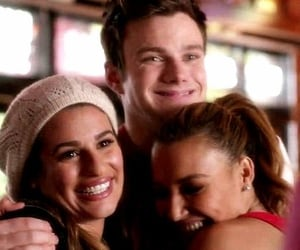 lea michele, rachel berry, and chris colfer image