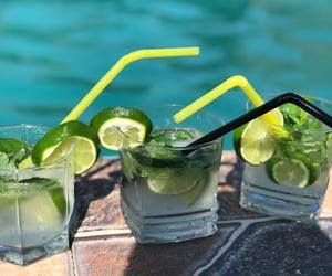 alcohol, mojito, and summer image