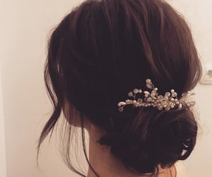 hair, wedding hair, and hairstyle image