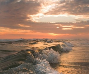 nature, waves, and ocean image
