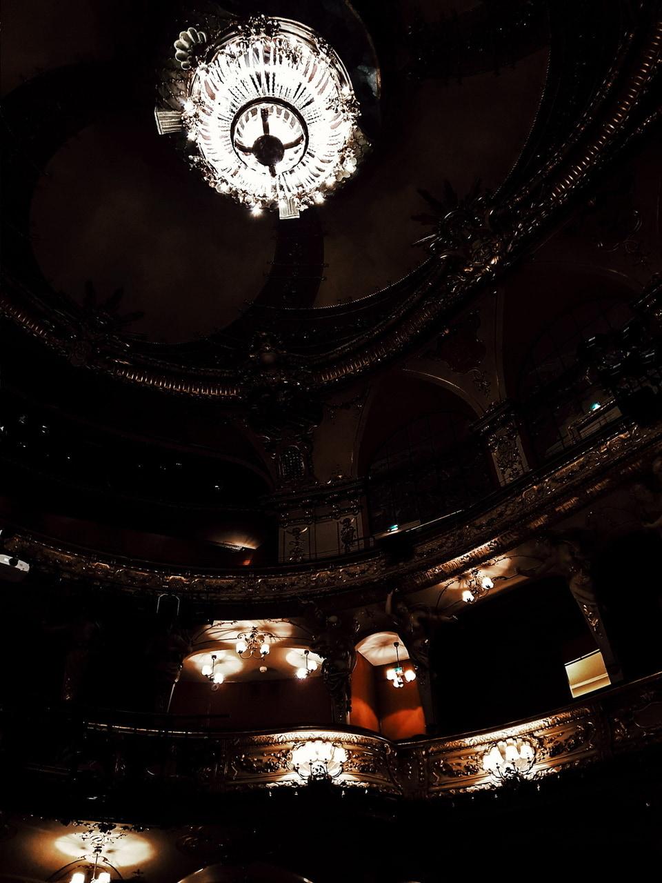 actors, actress, and chandelier image
