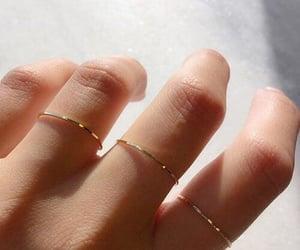 rings, gold, and hand image
