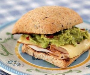 toasted sandwich, camping recipe, and simple turkey image