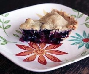 blueberry, recipe, and rhubarb pie image