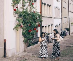 summer, polka dot, and floral dress image