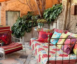 outdoors, chilling, and furniture image