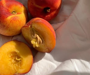 fruit, peach, and aesthetic image