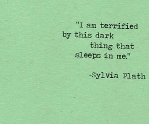 quotes, dark, and sylvia plath image