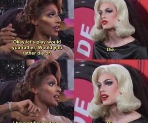 die, laugh, and dragrace image
