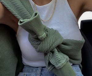 fashion, green, and jeans image