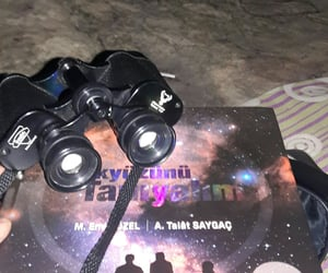binoculars, star, and observe image