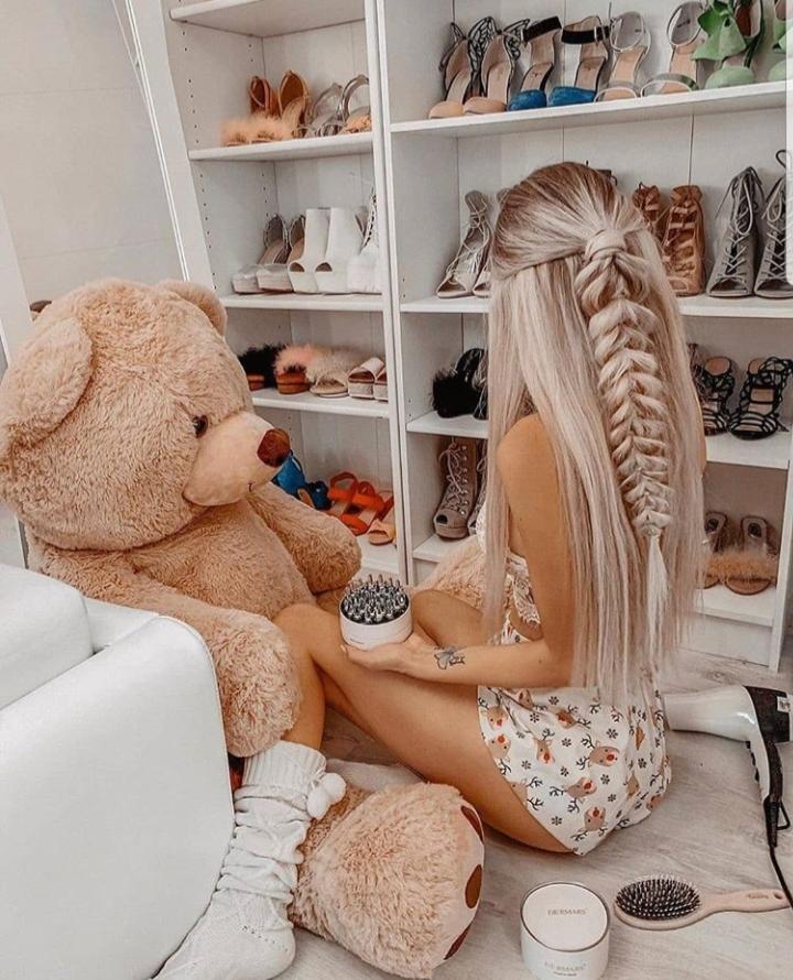 girly and teddy bear image