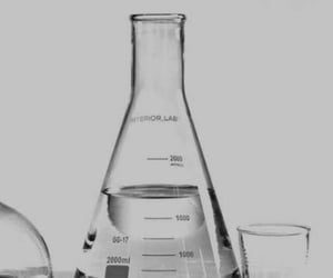chemistry, gray, and science image