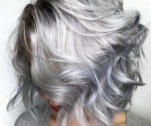 hair, silver, and grey image