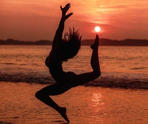 beach, jumping, and Sri Lanka image