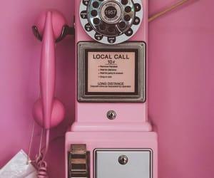 phone, pink, and vintage image