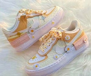 flowers, pastel, and shoes image