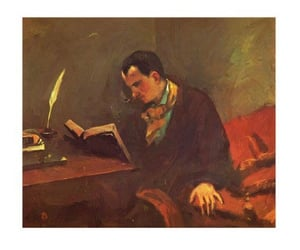 Charles Baudelaire, detail, and painting image