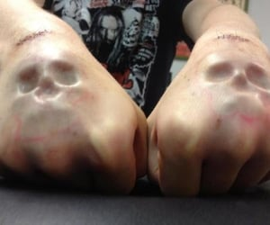 skull and hands image