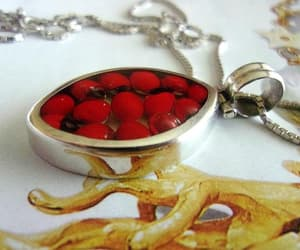 etsy, south american, and red necklace image