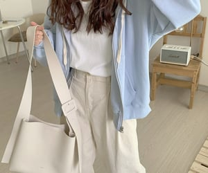 fashion, kfashion, and sky blue image