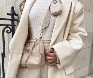 fashion, beige, and Prada image