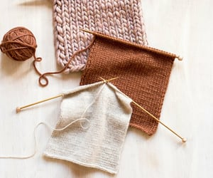 aesthetic and knitting image