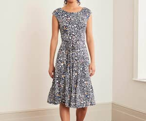 floral dress, jersey, and boden image