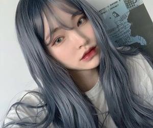 blue, korean, and hair image