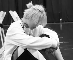 jin, back&white, and manbun image